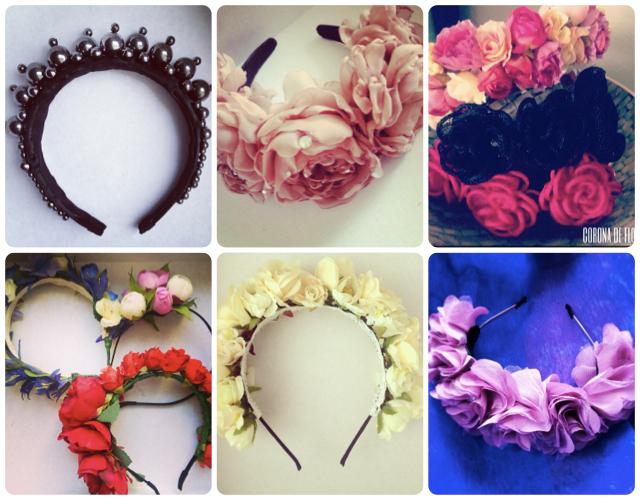 Ободок из цветов на голову своими руками