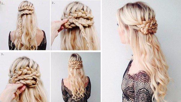 Красивые простые прически своими руками на средние волосы