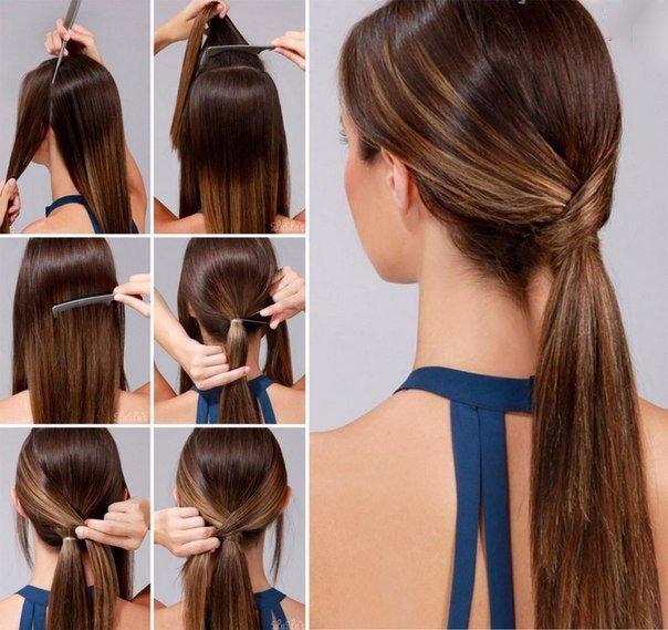 Прически на каждый день на длинный волос