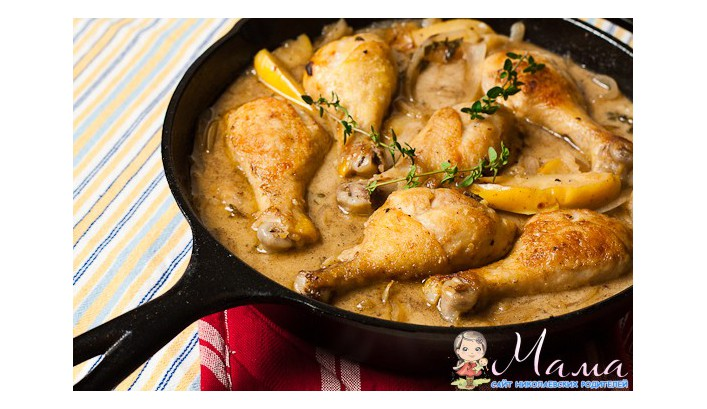 тушеная курица на сковороде рецепт с фото