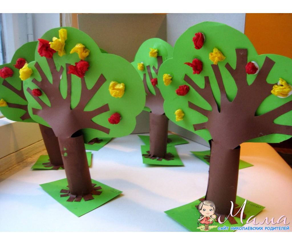Как сделать бумажное дерево для детей 8