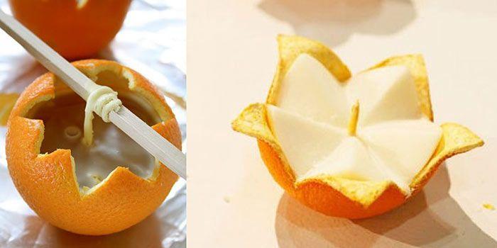 Свечи из мандарин своими руками